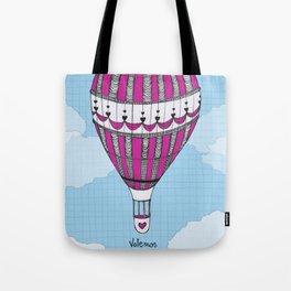 Hot Air Balloon, Spanish Tote Bag