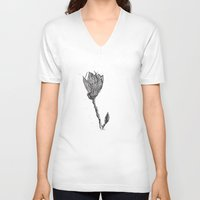 magnolia V-neck T-shirts featuring Magnolia by Soldiers in Petticoats Press