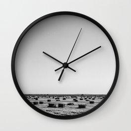 Salton Sea - Hay Stacks Wall Clock