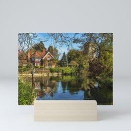 Backwater Goring on Thames Mini Art Print