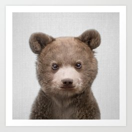 Baby Bear - Colorful Art Print