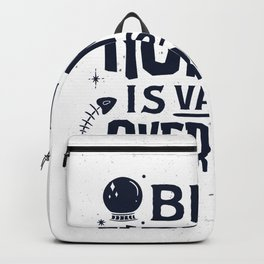 Being normal is by far overrated saying Backpack