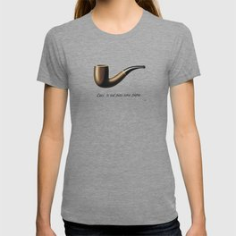 This Is Not A Pipe, Ceci n'est pas une pipe, Magritte Inspired T Shirt, Sketch, online T-shirt S T-shirt