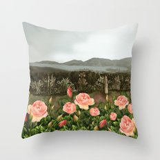 Le Rose Throw Pillow