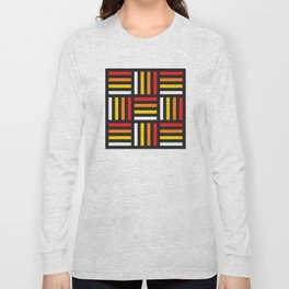 Geometric Pattern #166 (red yellow stripes) Long Sleeve T-shirt