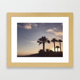 Malibu sunsets Framed Art Print