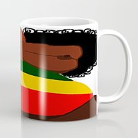 rasta Mugs featuring Rasta Beauty by Courtney Ladybug Johnson
