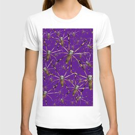 Watercolor Graphic 07, Spider Crawl, Golden Orb Weaver Royale T-shirt