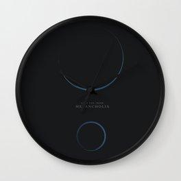 Melancholia - Lars Von Trier Minimalist movie poster Wall Clock