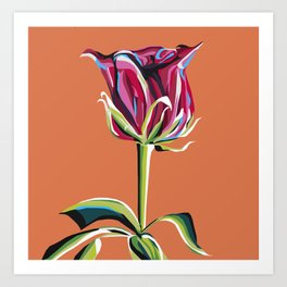 Pink Vintage Rose Art Print