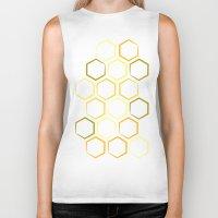 honeycomb Biker Tanks featuring Honeycomb by Thomas Knapp