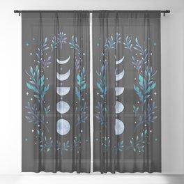 Moonlight Garden - Blue Sheer Curtain