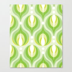 Green Dew Drops Canvas Print