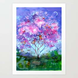 April Tree Art Print