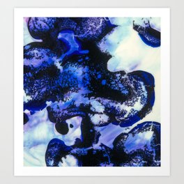 Point of View Abstract Water Blue Purple Art Art Print