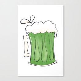 Saint Patties Day Beer Canvas Print