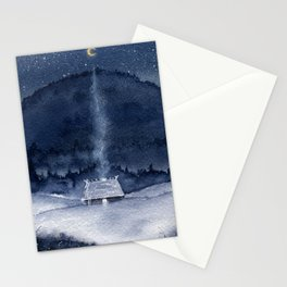 Lost in Snow Stationery Cards