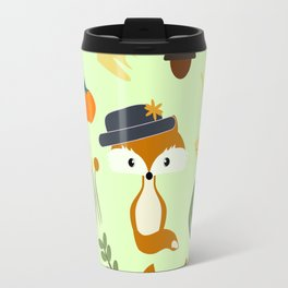 Cute fox in autumn Travel Mug