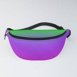 OMBRE -GRADIENT- PLASTIC PINK PROTON PURPLE- UFO GREEN WORLDWIDE TRENDING COLOR / COLOUR Fanny Pack