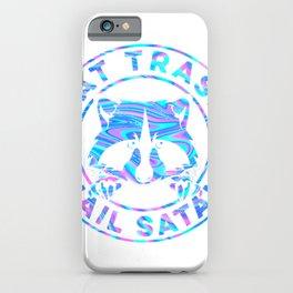 Eat Trash Hail Satan Eat Trash Raccoon Meme Trash Panda T-Shirt iPhone Case