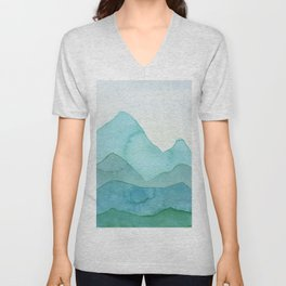 Green Mountains Unisex V-Neck