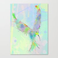 swallow Canvas Prints featuring SWALLOW by ARC ART