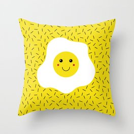 Eggs emoji Throw Pillow