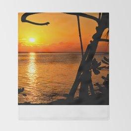Sunrise The Maldives Throw Blanket