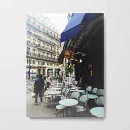 Cafe Terrace, Paris Metal Print