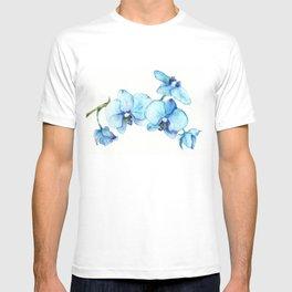 Blue Orchids - Watercolor T-shirt