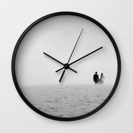 Just married B&W Wall Clock