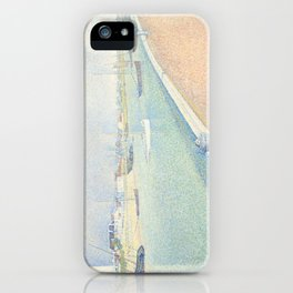 Georges Seurat - The Channel of Gravelines iPhone Case