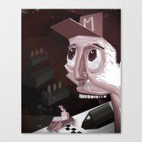 mario kart Canvas Prints featuring Mario Car by Crooked Octopus