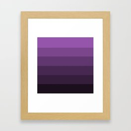 Deep Lavender Dream - Color Therapy Framed Art Print