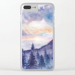 Into The Forest IX Clear iPhone Case
