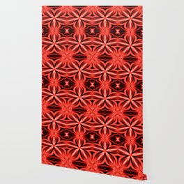 Electric Red Pattern Wallpaper