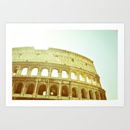 Postcards from Italy: Colosseo Art Print