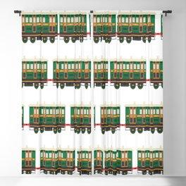 trains pattern transportation Blackout Curtain