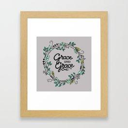 Grace Upon Grace Framed Art Print