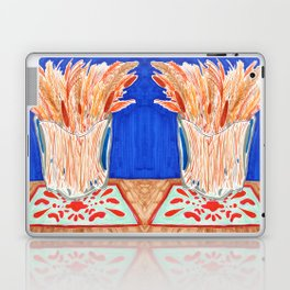 Glass Vase with Dried Plants drawing Laptop & iPad Skin