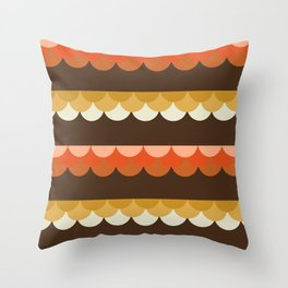 Be Still - scallop retro vintage 70s style colors 1970s throwback Throw Pillow