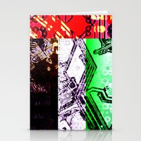 arab Stationery Cards featuring circuit board united arab emirates (flag) by seb mcnulty