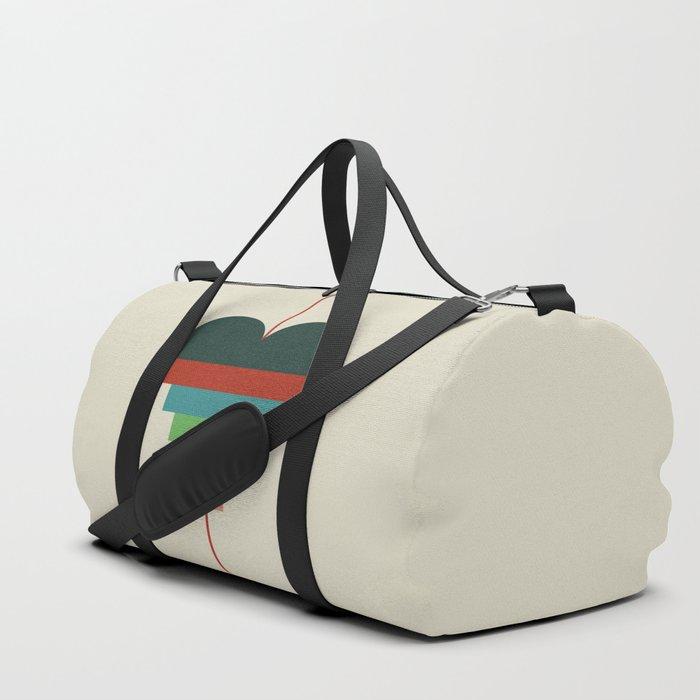 heart geometry Duffle Bag