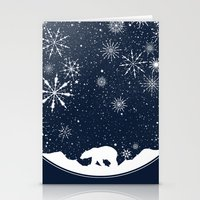 globe Stationery Cards featuring Snow Globe by Tobe Fonseca
