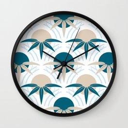 Vintage Japanese Bamboo Pattern Revamp Wall Clock