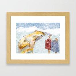 Valentines polar bear Framed Art Print