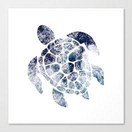 Sea Turtle - Blue Ocean Waves Canvas Print