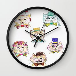 Kitties Galore Wall Clock