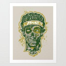 Brainz Zombie Print Art Print