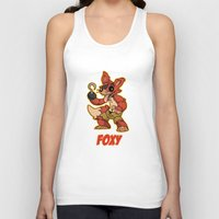 fnaf Tank Tops featuring Foxy Plush by Silvering